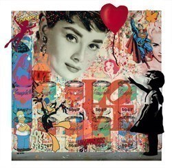 Audrey by Uri Dushy -  sized 42x41 inches. Available from Whitewall Galleries